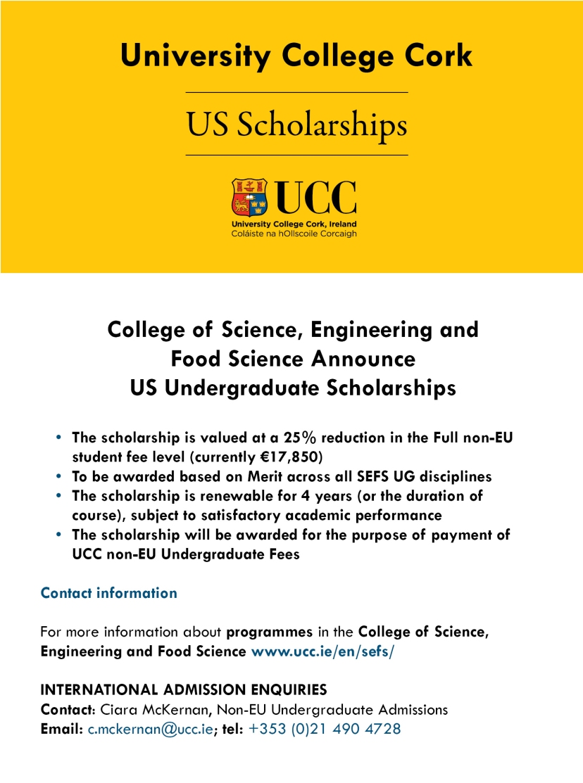 University college Cork Scholarships