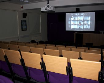 New Film and Screen Media auditorium, Windle Building, UCC, photograph by Abigail Keating
