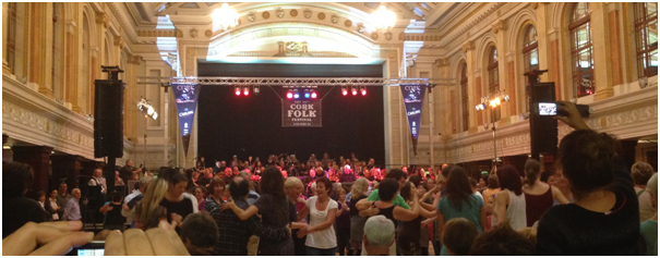 The World's Largest Céilí band performing in Cork City Hall