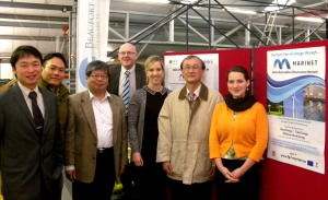 The Taiwanese visitors with Beaufort Research's Emma Knowles, MaRINET Administrator and Dr. Ray Alcorn, Executive Director. Joined by Hannah from the IEO.