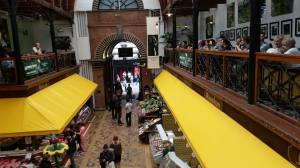 View from the Farmgate Cafe on the second floor of the English Market